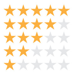 5 star rating icon eps10 5 star vector image
