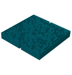A three-dimensional image of a square blue vector