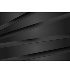 Abstract dark background with black stripes vector