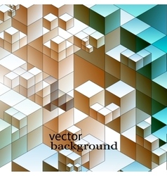 Abstract of cube Modern metropolis vector