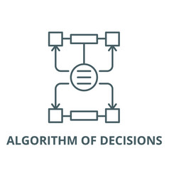 algorithm decisions line icon outline vector image