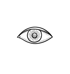 an eye hand drawn outline doodle icon vector image