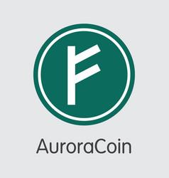 Auroracoin digital currency - symbol vector