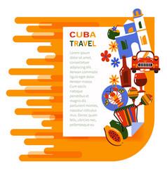 Banner cuba travel vector