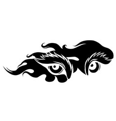 beast eyes black silhouette logo icon vector image