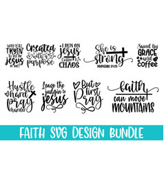 bible verse hand drawn lettering phrase isolated o vector image