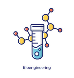 Bioengineering white color icon biological vector