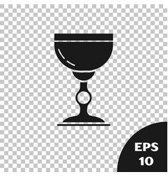 Black jewish goblet icon isolated on transparent vector