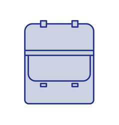 Blue silhouette of opened executive briefcase vector