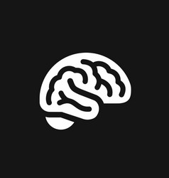 brain side view simple icon intellect symbol vector image