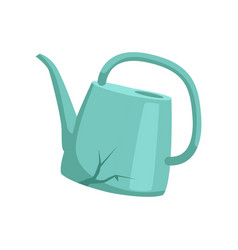 broken watering can recycling garbage concept vector image