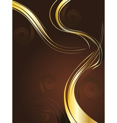 Brown and Gold Background vector
