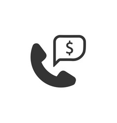 Business support icon vector