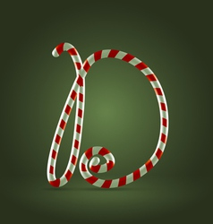 Candy cane abc D vector image