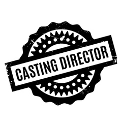 Casting Director rubber stamp vector