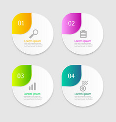 circle infographic elements layout 4 options vector image