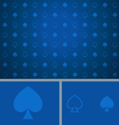 Clean Abstract Poker Background Blue Spades vector image