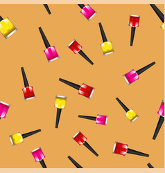 Colored nail polsh seamless pattern vector