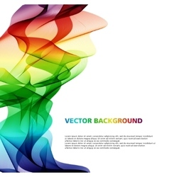 Colorful wavy abstract background vector