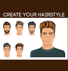 Create change of hairstyle choices for men vector