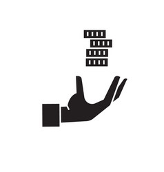 credit loan hand with money black concept vector image