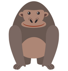 cute gorilla on white background vector image