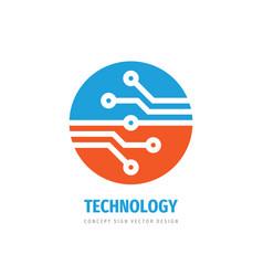 data digital logo design electronic tech vector image