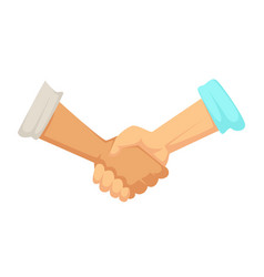 deal sign handshake agreement male hands vector image