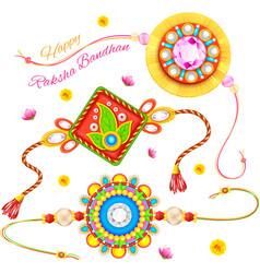 Decorative Rakhi for Raksha Bandhan vector