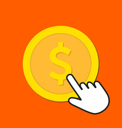 dollar currency icon exchange buying currency vector image