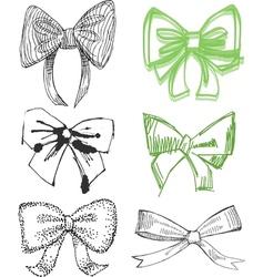 Drawn Bows vector image