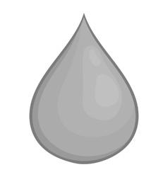 Drop of honey icon black monochrome style vector