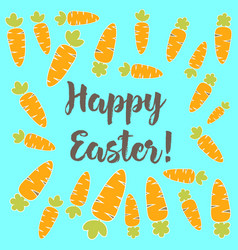 easter card with carrot vector image