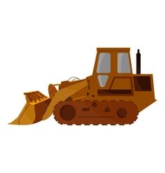 Excavator on white background vector