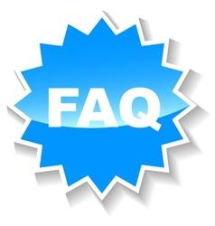 Faq blue icon vector