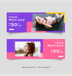 Fashion lifestyle sale cover banner template vector