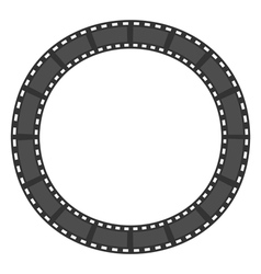 Film strip round circle frame Template Design vector