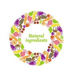 fruit and vegetables frame vector image