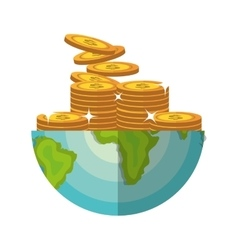 Global economy world savings vector