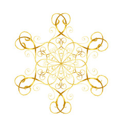 gold snowflake in oriental style vector image