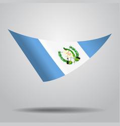 Guatemalan flag background vector