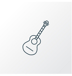 guitar icon line symbol premium quality isolated vector image