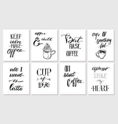 Hand drawn graphic ink posters or cards vector