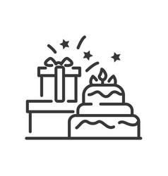 happy birthday - line design single vector image