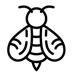 honey bee icon outline style vector image