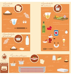 Infographic Food vector image