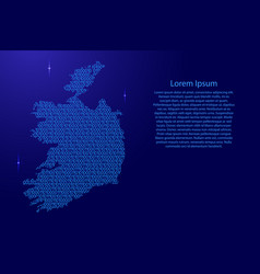 ireland map abstract schematic from blue ones and vector image