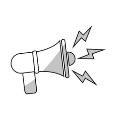 Isolated megaphone design vector