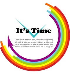 its time gay with place for your text vector image