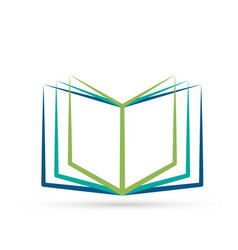 knowledge book logo icon vector image